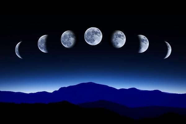månen og jorden
